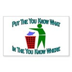 You Know Where Rectangle Sticker 10 pk)
