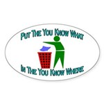 You Know Where Oval Sticker (50 pk)