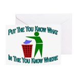 You Know Where Greeting Cards (Pk of 20)