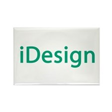 iDesign, Teal Interior Design Rectangle Magnet