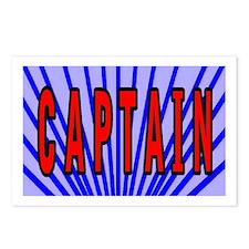 Captain t-shirt shop Postcards (Package of 8)