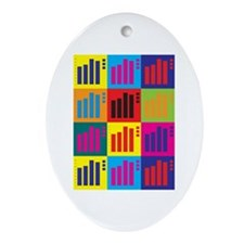 Actuarials Pop Art Oval Ornament