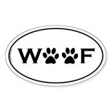 Woof Paws Oval Decal