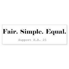 Fair Tax Awareness Bumper Bumper Sticker