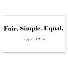 Fair Tax Awareness Rectangle Decal