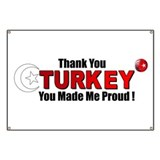 Thank you Turkey Banner