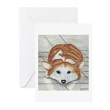 Corgi Eyes Greeting Cards (Pack of 6)