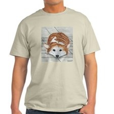 Corgi Eyes Ash Grey T-Shirt