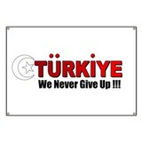 Never say Die Turkey Banner