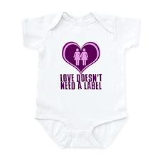 Proud Lesbian in Love Infant Bodysuit