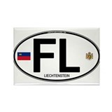Liechtenstein Euro Oval Rectangle Magnet