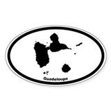 Guadeloupe Outline Oval Decal