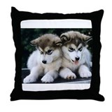 The Huskies Throw Pillow