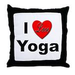 I Love Yoga Throw Pillow