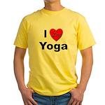 I Love Yoga Yellow T-Shirt