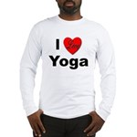 I Love Yoga (Front) Long Sleeve T-Shirt