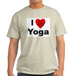 I Love Yoga Ash Grey T-Shirt