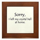 Crystal Ball Framed Tile