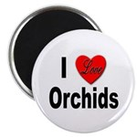 I Love Orchids Magnet