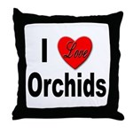 I Love Orchids Throw Pillow