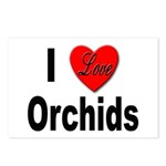 I Love Orchids Postcards (Package of 8)