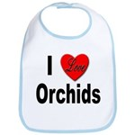 I Love Orchids Bib