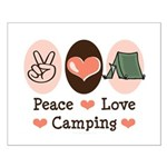 Peace Love Camping Small Poster