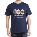 Peace Love Camping Dark T-Shirt