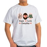 Peace Love Camping Light T-Shirt