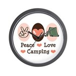 Peace Love Camping Wall Clock