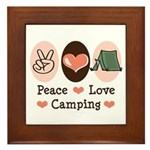 Peace Love Camping Framed Tile