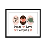 Peace Love Camping Framed Panel Print