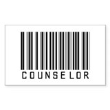 Counselor Barcode Rectangle Sticker 50 pk)