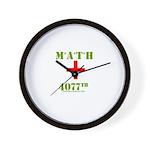 Math 4077th Wall Clock