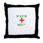 Math 4077th Throw Pillow