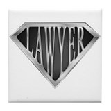 SuperLawyer(metal) Tile Coaster
