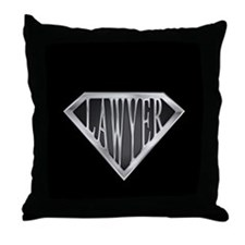 SuperLawyer(metal) Throw Pillow