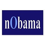 Baby Blue nObama Rectangle Decal