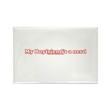 My Boyfriend's A Nerd Rectangle Magnet (10 pack)
