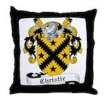 Christie Family Crest Throw Pillow