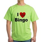 I Love Bingo Green T-Shirt