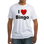 I Love Bingo (Front) Fitted T-Shirt
