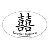Double Happiness Oval Decal