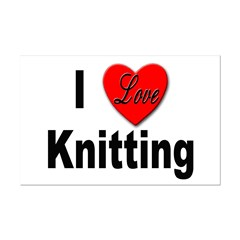 I Love Knitting Mini Poster Print
