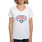 Genealogy World Champion Women's V-Neck T-Shirt