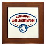 Genealogy World Champion Framed Tile