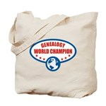 Genealogy World Champion Tote Bag