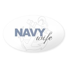 Navy Wife Oval Decal