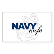 Navy Wife Rectangle Decal