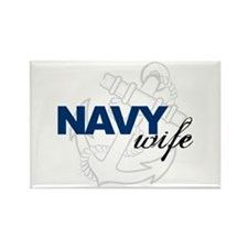 Navy Wife Rectangle Magnet